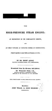 Cover of: The high-pressure steam engine by Ernst Alban