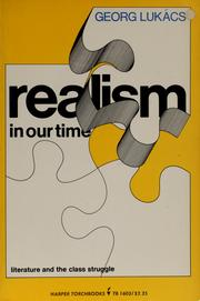 Cover of: Realism in our time by Gyrgy Lukcs