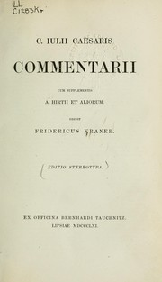 Cover of: Commentarii by Julius Caesar