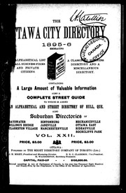 The Ottawa city directory, 1895-6 by