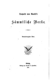 Smmtliche Werke by Leopold von Ranke