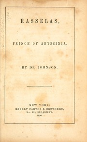 Cover of: Rasselas, Prince of Abyssinia by Samuel Johnson