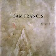 Sam Francis by William C. Agee