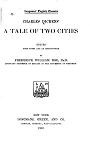 Cover of: A Tale of Two Cities by Charles Dickens, Frederick William Roe