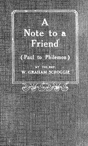 Note to a friend by W. Graham Scroggie