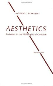 Aesthetics, problems in the philosophy of criticism PDF