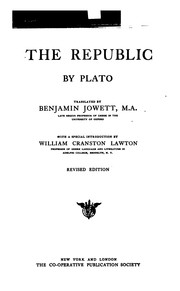 Cover of: The Republic of Plato: An Ideal Commonwealth by Plato