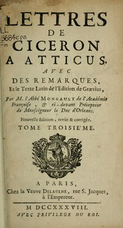 Cover of: Lettres  Atticus by Cicero