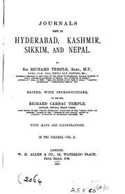 Journals kept in Hyderabad, Kashmir, Sikkim, and Nepal by Sir Richard Temple
