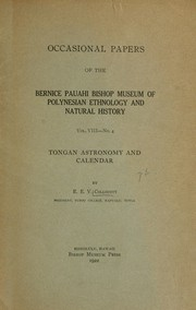 Tongan astronomy and calendar by Ernest Edgar Vyvyan Collocott