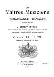 Pseaumes en vers mezurez by Claude Le Jeune