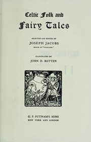 Celtic folk and fairy tales by Joseph Jacobs