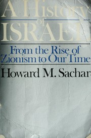 A history of Israel by Howard Morley Sachar