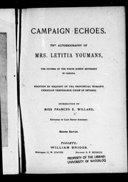 Campaign echoes by Letitia Youmans