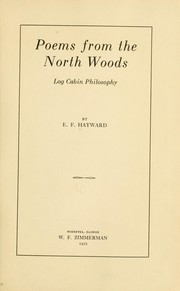 Cover of: Poems from the north woods by E. F. Hayward