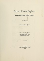 Peters of New England by Edmond Frank Peters