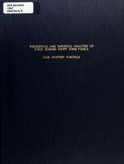 Theoretical and empirical analyses of thick skinned swept wing panels PDF