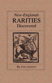 New-Englands rarities discovered by John Josselyn
