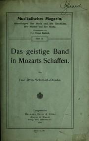 Das geistige Band in Mozarts Schaffen PDF
