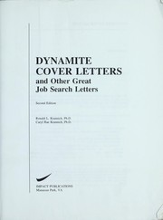 Cover of: Dynamite cover letters and other great job search letters by Ronald L. Krannich