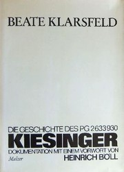 Cover of: Kiesinger by Beate Klarsfeld