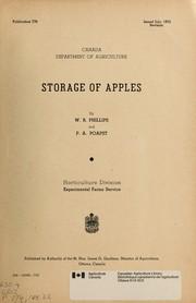Storage of apples PDF
