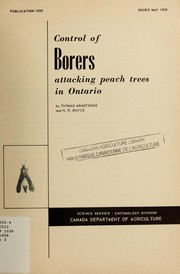 Control of borers attacking peach trees in Ontario PDF