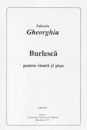 Cover of: Burlesque for violin and piano by