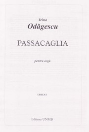 Cover of: Passacaglia for organ by Irina Odagescu