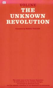 Rvolution inconnue, 1917-1921 by Volin