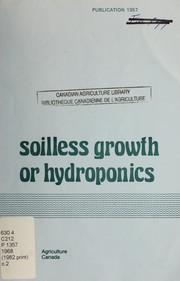 Soilless growth or hydroponics PDF