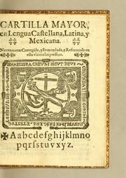 Cartilla mayor, en lengua castellana, latina, y mexicana PDF