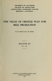 The value of orange pulp for milk production PDF