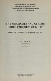 The nematodes and certain other parasites of sheep PDF