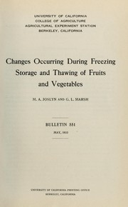 Changes occurring during freezing storage and thawing of fruits and vegetables PDF