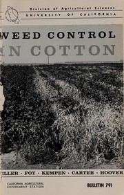 Weed control in cotton PDF