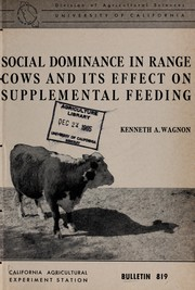 Social dominance in range cows and its effect on supplemental feeding PDF