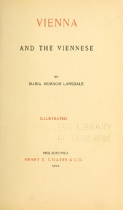 Cover of: Vienna and the Viennese by M. H. Lansdale