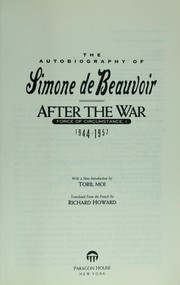Force des choses by Simone de Beauvoir