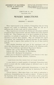 Winery directions PDF