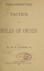 Parliamentary tactics PDF