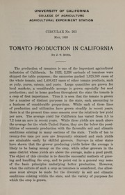 Tomato production in California PDF