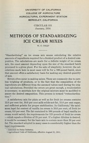 Methods of standardizing ice cream mixes PDF