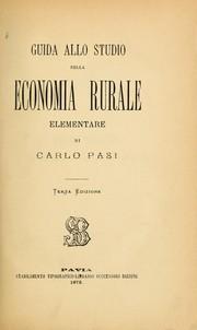 Guida allo studio della economia rurale elementare PDF