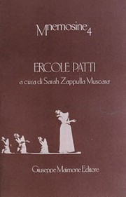 Ercole Patti. Un letterato al cinema by Ges, Sebastiano.