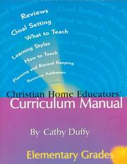 Christian home educators' curriculum manual by Cathy Duffy
