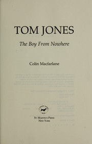 Tom Jones by Colin Macfarlane