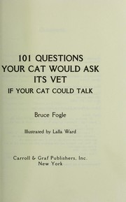 101 questions your cat would ask its vet (if your cat could talk) PDF