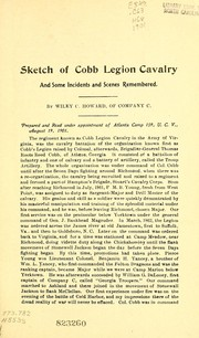 Sketch of Cobb Legion Cavalry and some incidents and scenes remembered PDF