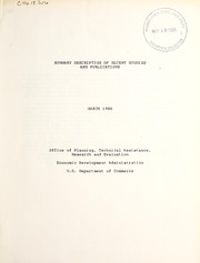 Summary description of recent studies and publications PDF